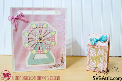 Ferris wheel gift bag and carousel treat bag