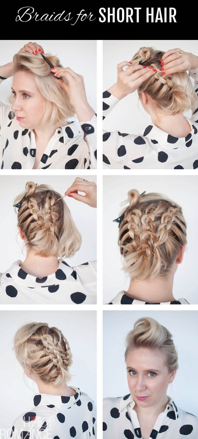 Sectioned-Off Braided Updo