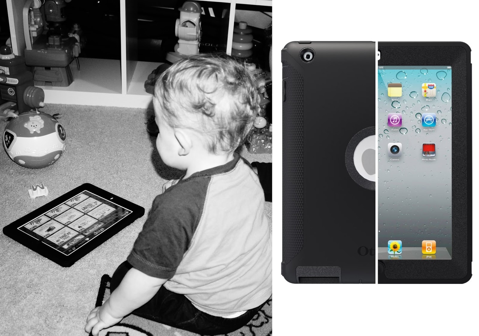 Toddler Must Haves - IPad Otterbox cover is a must-have so kids don't destroy the iPad.