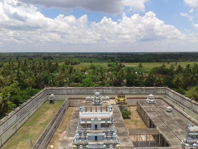 Aerial View Of Sri Parijatha Vaneswarar Temple