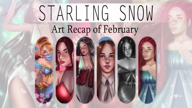 My Art Recap of February! | Digital Paintings