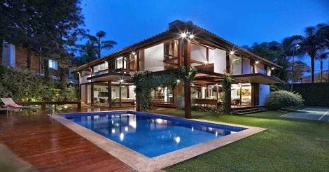desain hunian mewah 2 lantai dengan kolam renang - ayiednet