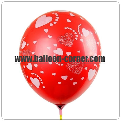 Balon Latex Full Print Hati