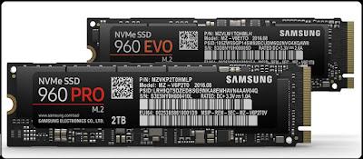 Samsung Mengenalkan SSD M.2 NVMe 960 Pro dan 960 EVO Series