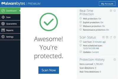 Screenshot Malwarebytes Anti-Malware 3.3.1.2183 Full Version
