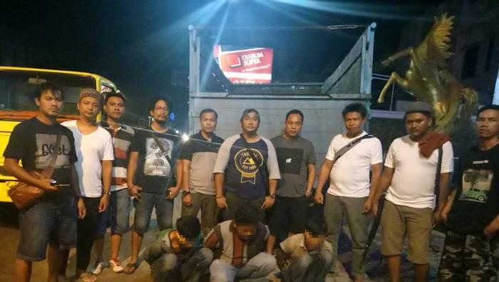 Polisi Tangkapan 3 Pelaku Spesialis Curat Mobil Truck di Tulang Bawang Barat.