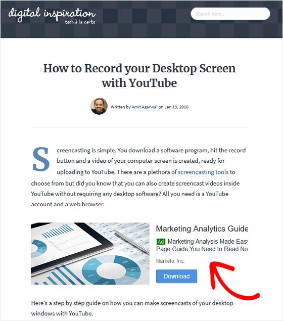 Iklan AdSense dalam Konten