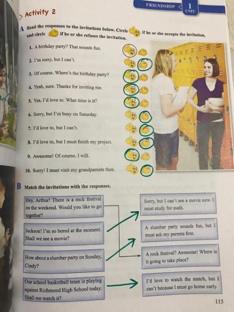 8. Sınıf Tutku Yayınları İngilizce 115. Sayfa Self Study Activites Cevapları