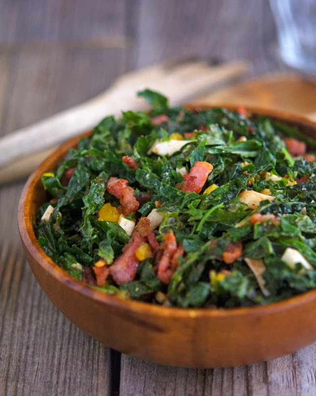 Shredded Kale Salad with Pancetta and Hard-Boiled Egg