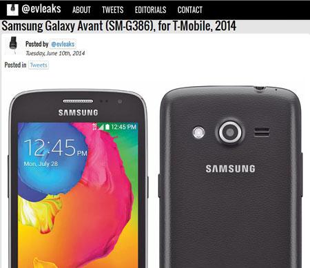 28 Juli, Galaxy Avant (SM-G386) Siap Rilis