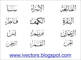 Names Of Quranic Surahs Arabic Thuluth Calligraphy - Type My