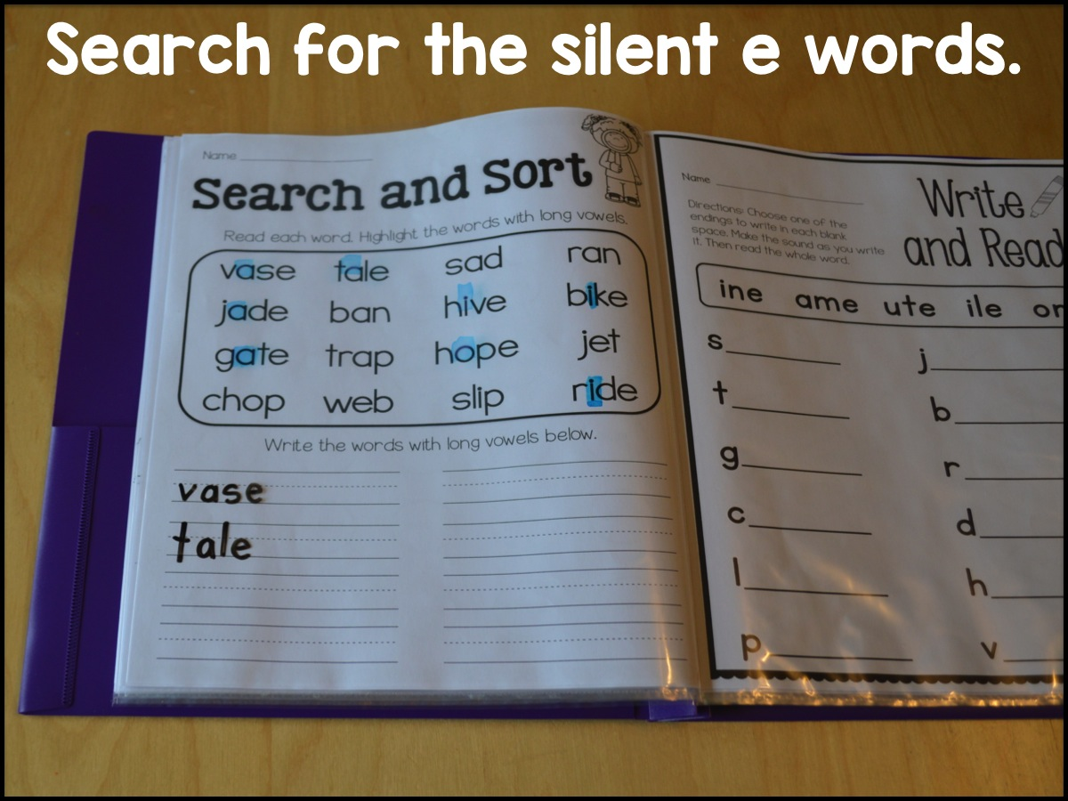 Sarah S First Grade Snippets Silent E Printable