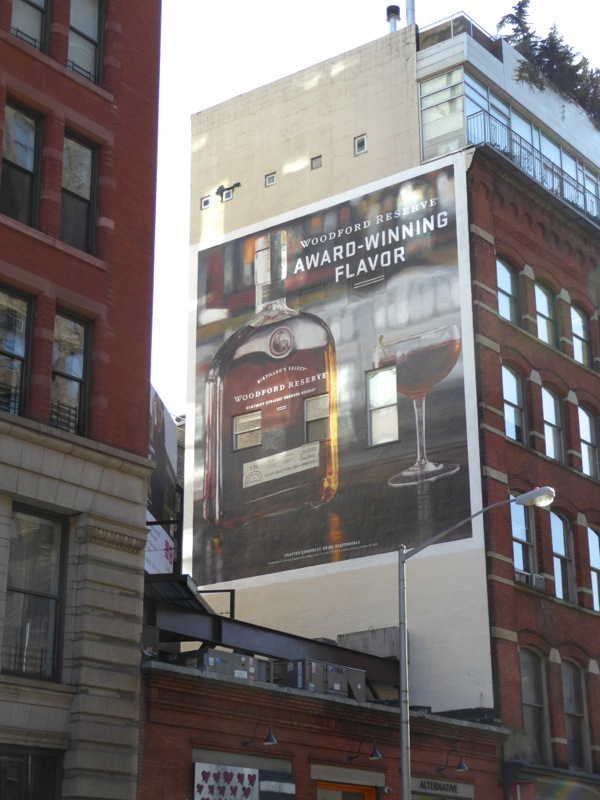 Woodford Reserve Bourbon Whiskey billboard NYC