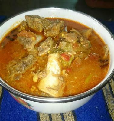 mutton soup preparation