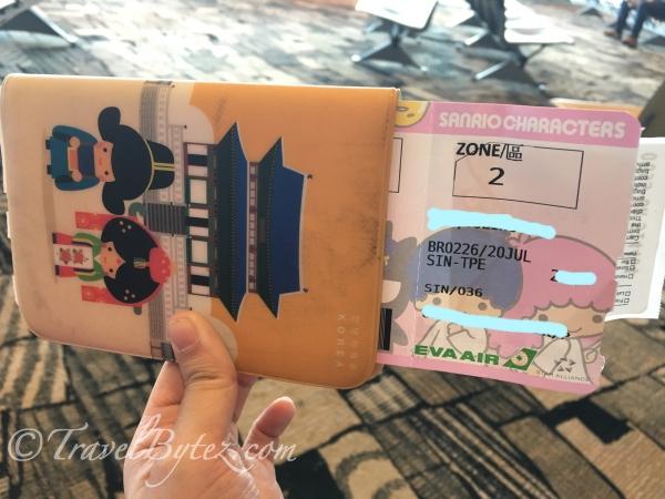 Eva Air Hello Kitty Air Ticket BR226