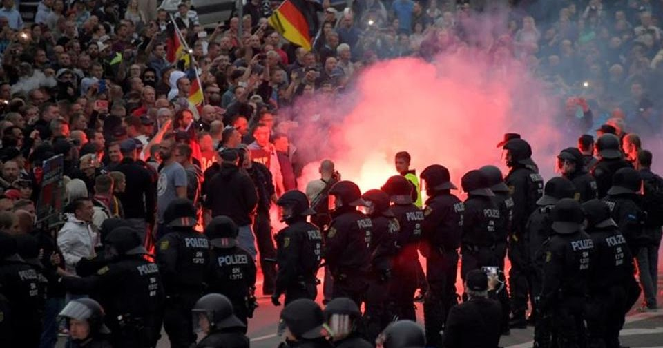 Far-right links with German police sparked violent anti-foreigner protests