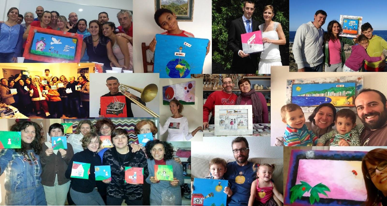 Personas y Familias personalizadas | Pintas Mucho en mi Vida