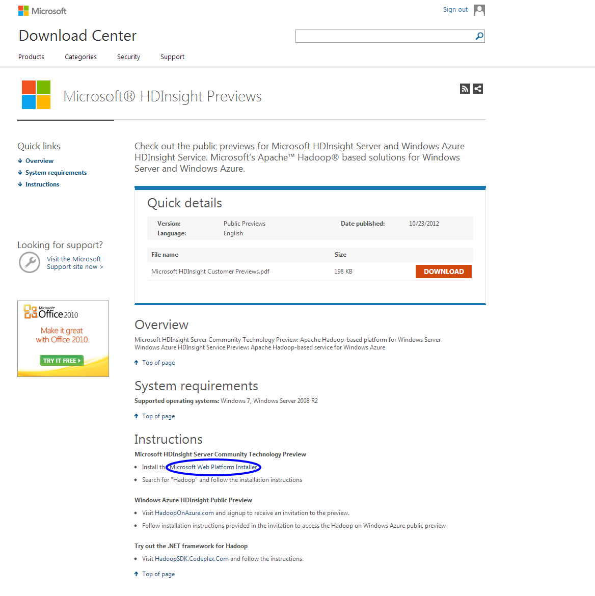 HOW TO INSTALL AND USE MICROSOFT HDINSIGHT (HADOOP ON WINDOWS)