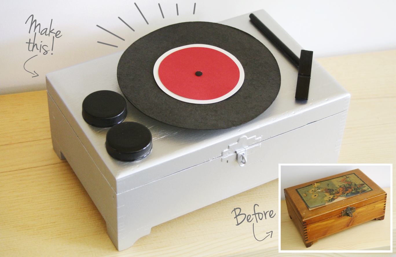 Please Note: DIY: Record Player Jewelry Box