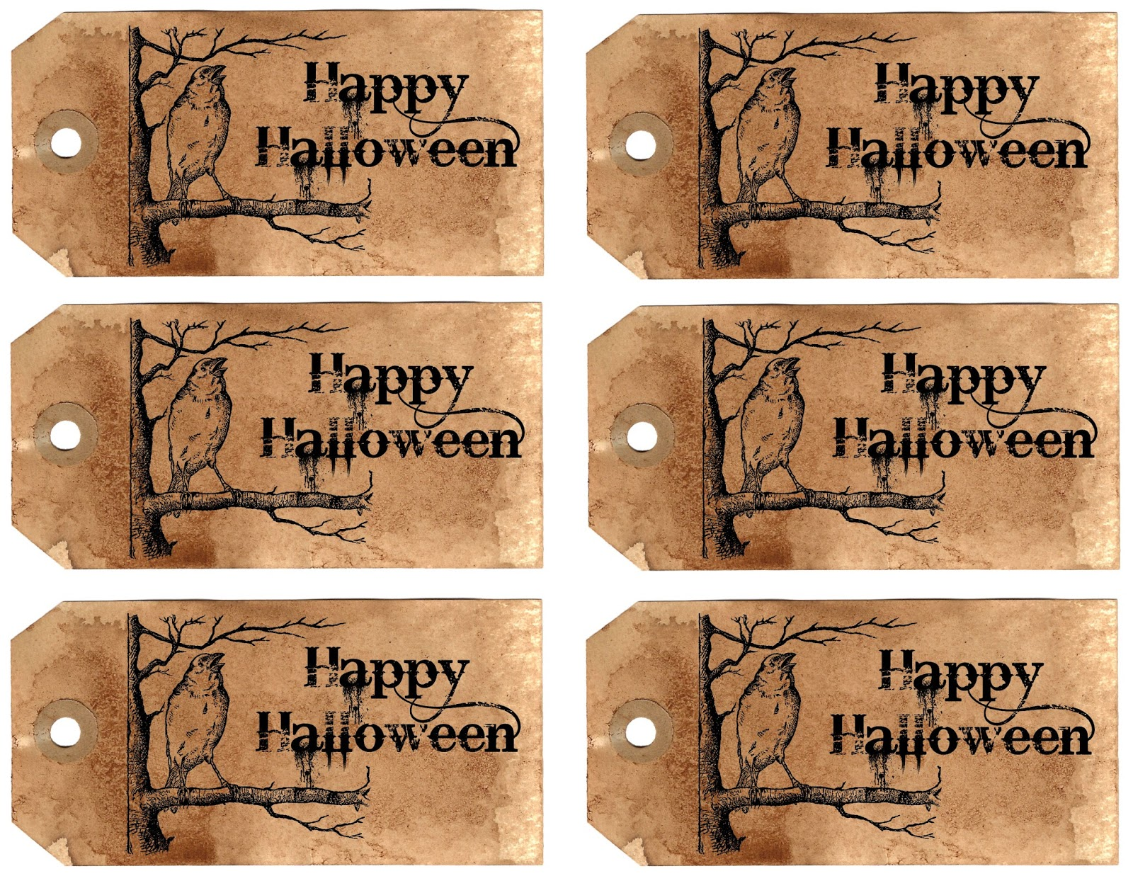 photograph about Printable Halloween Tag referred to as The Graphics Monarch: Printable Halloween Reward Tags Sheet