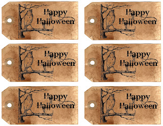 Halloween collage sheet tags download