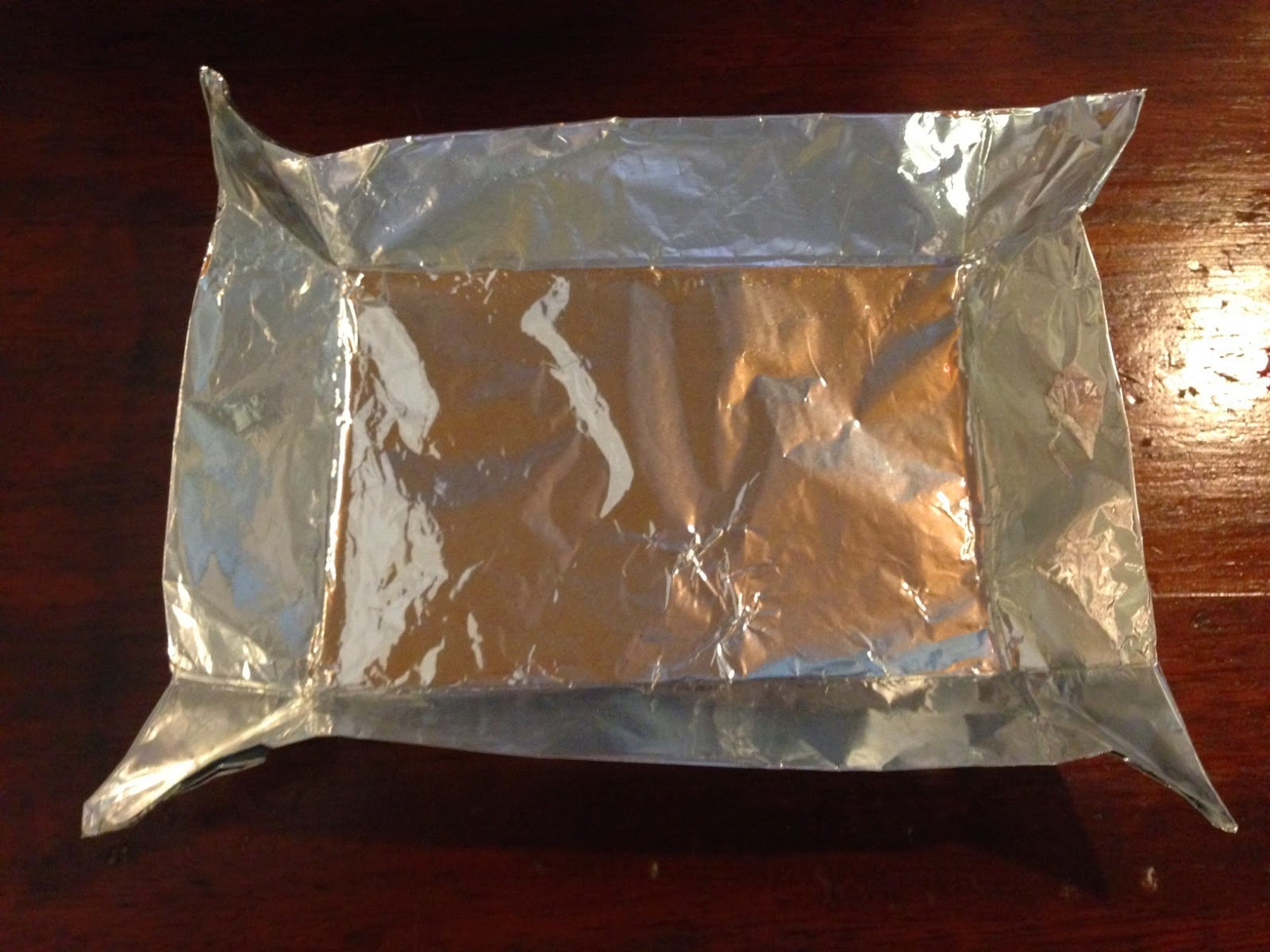the making of a tin foil tray