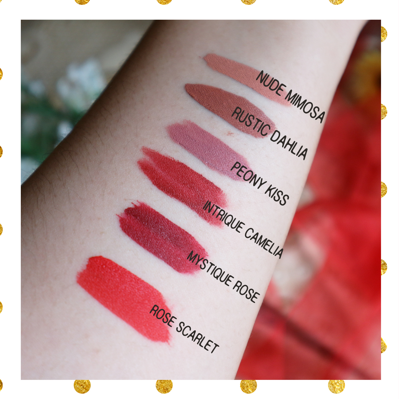 rubiena lip & cheek cream swatches & review