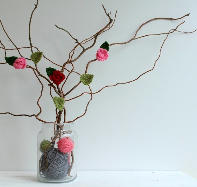 how to crochet valentine roses