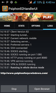 Psiphon activity logs