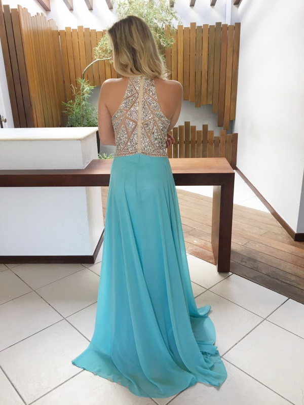 vestido de festa bordado