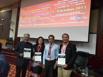 Penerima anugerah bergambar kenangan dengan orang kuat STEM Malaysia, Dr Ihsan Ismail
