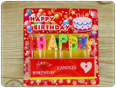Lilin Ultah Motif HAPPY BIRTHDAY Polkadot