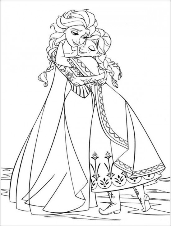 free coloring disney pages | Coloring Page World: Frozen (Portrait)