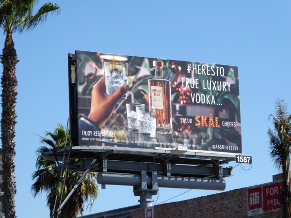 Heres to true luxury Absolut Elyx billboard