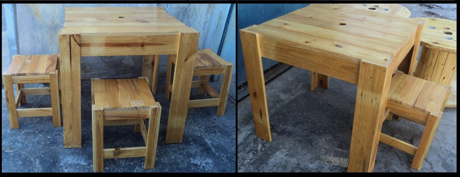 Makes pallets mesas de madeira pallet ou carretel - Mesa centro palet ...