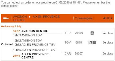 Avignon, Aix En Provence, Train Ticket, SNCF