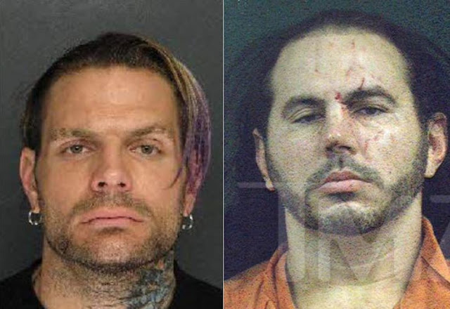 Jeff and Matt Hardy mugshots.  STRENGTHFIGHTER.COM