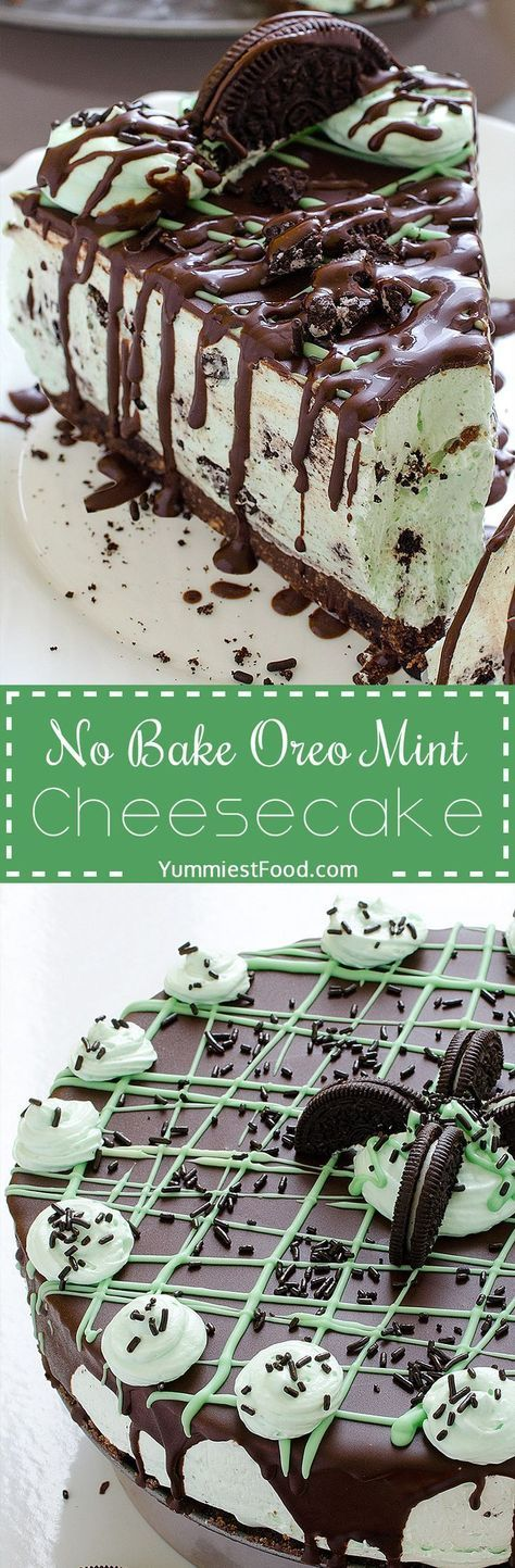 No Bake Oreo Mint Cheesecake