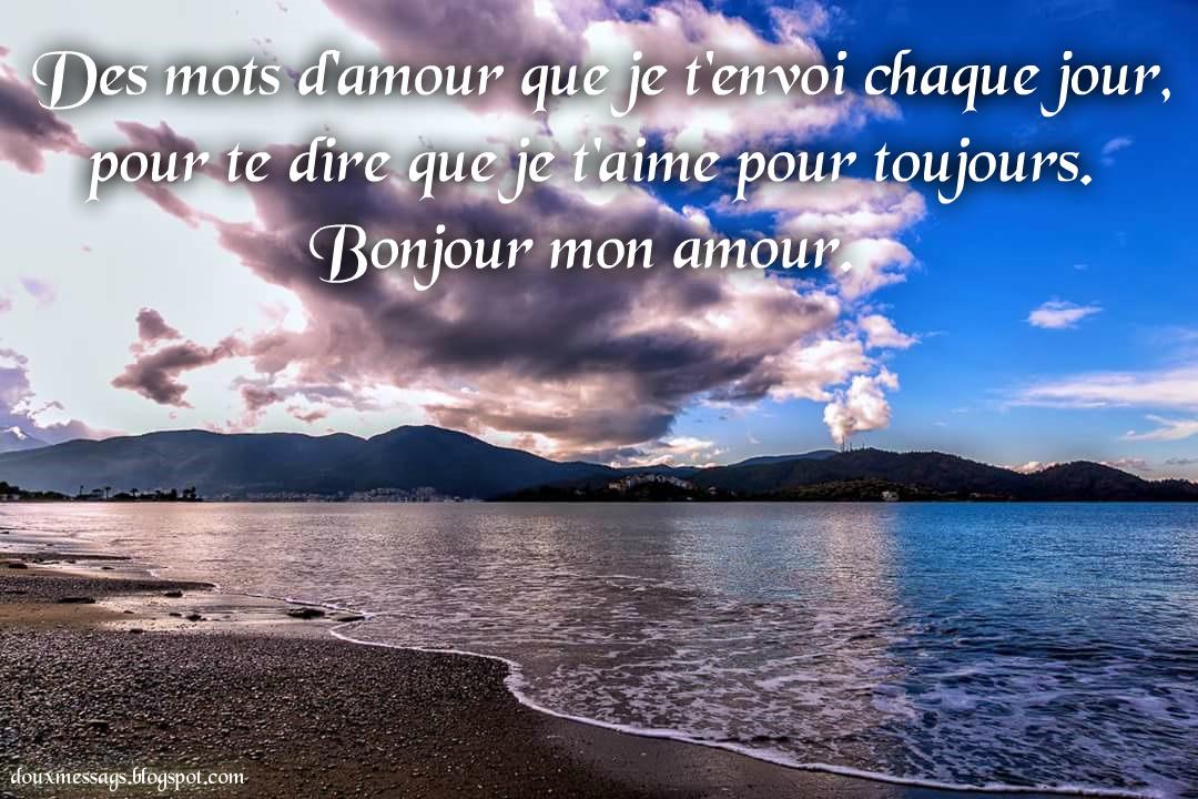 Image bonjour d 39 amour messages doux - Image d amour gratuite ...