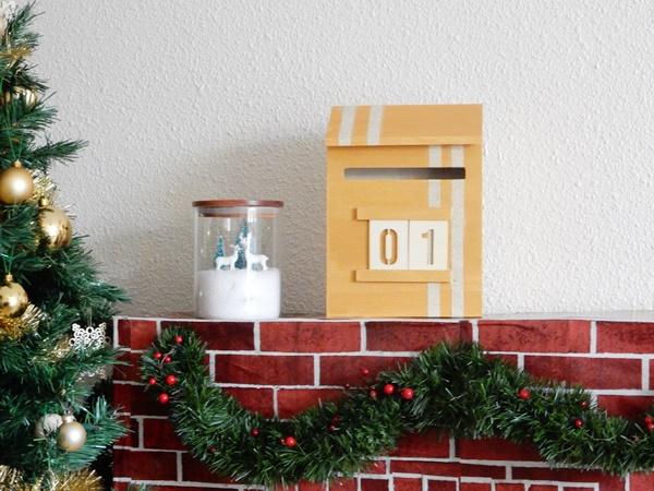 Un calendrier de l'Avent boite aux lettres à customiser