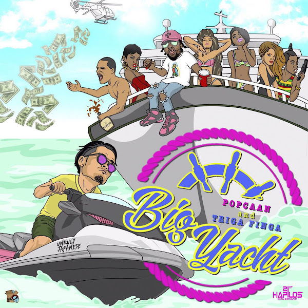 TRIGA FINGA - Big Yacht (feat. Popcaan) - Single Cover