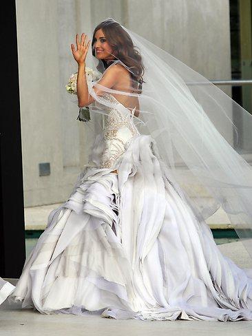 Holly Valance Wedding Dress Designer