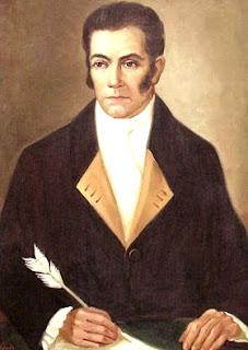 Imagen de Juan Pablo Vizcardo y Guzmán escribiendo