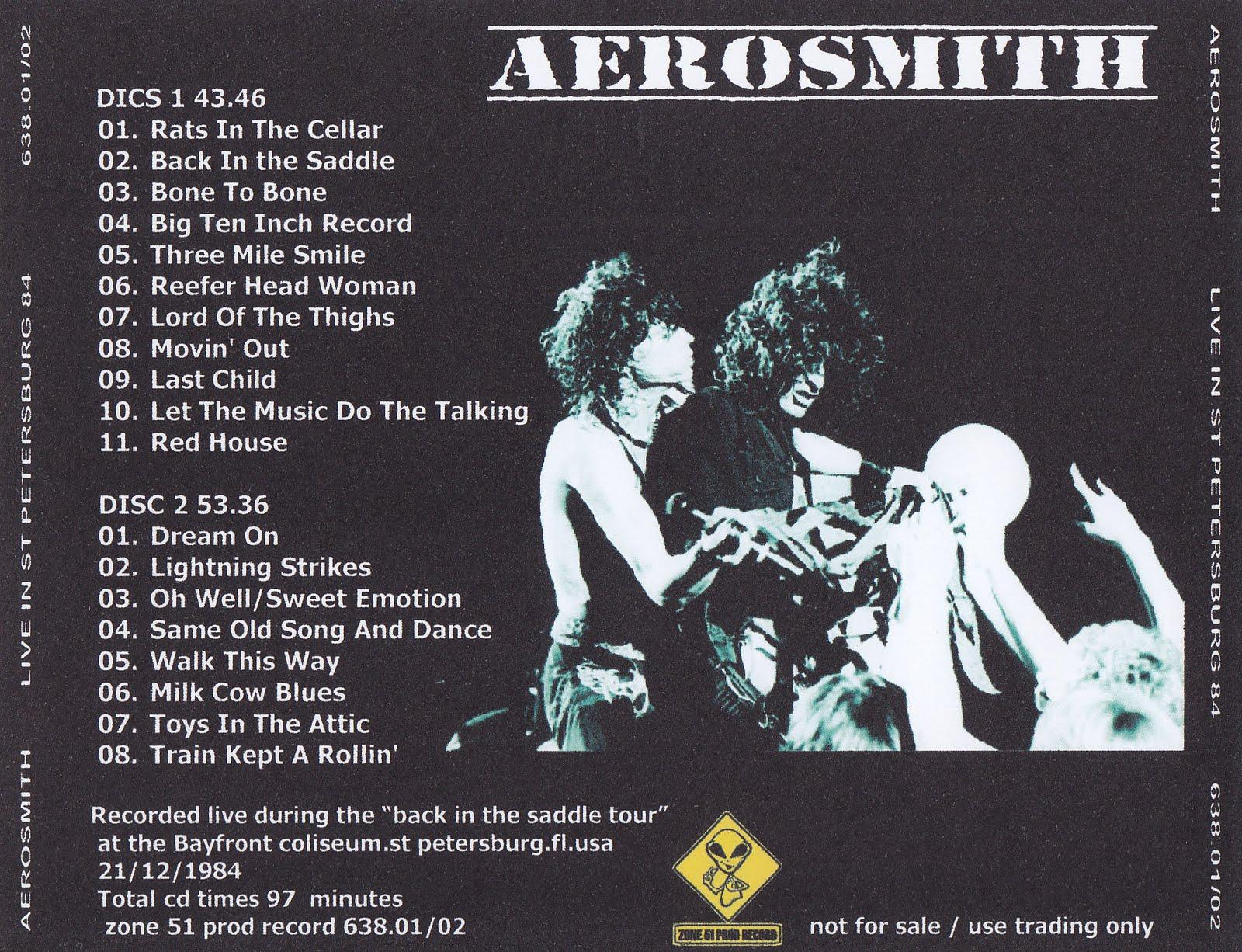Aerosmith Bootlegs Cover Arts Live In St Petersburg 84