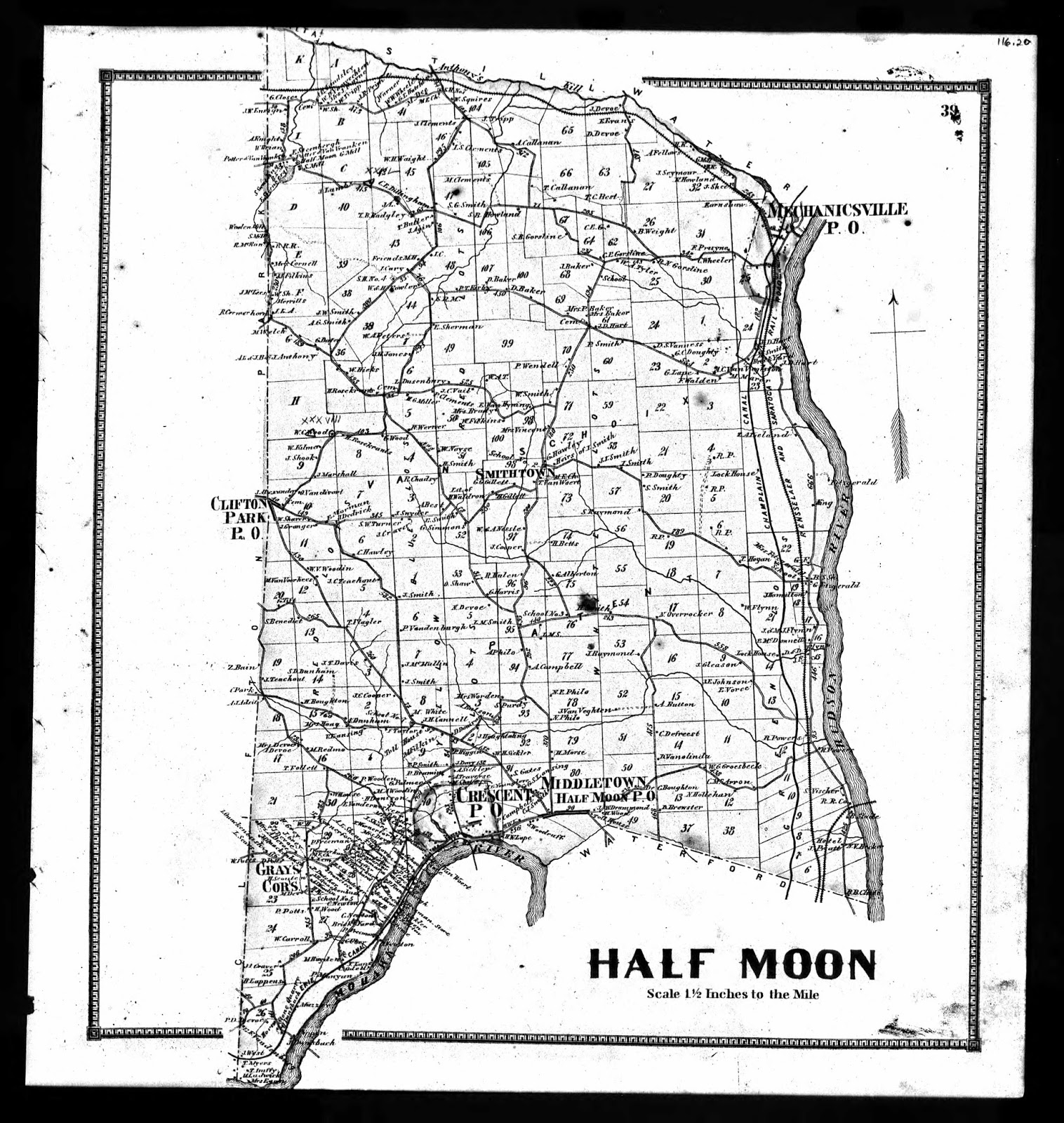 The Vincent Family: Land Ownership Map - Halfmoon
