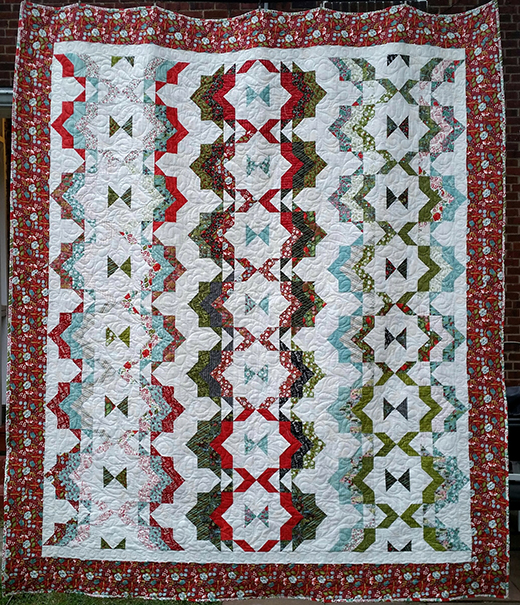 Ribbon Candy Jelly Roll Quilt Free Tutorial