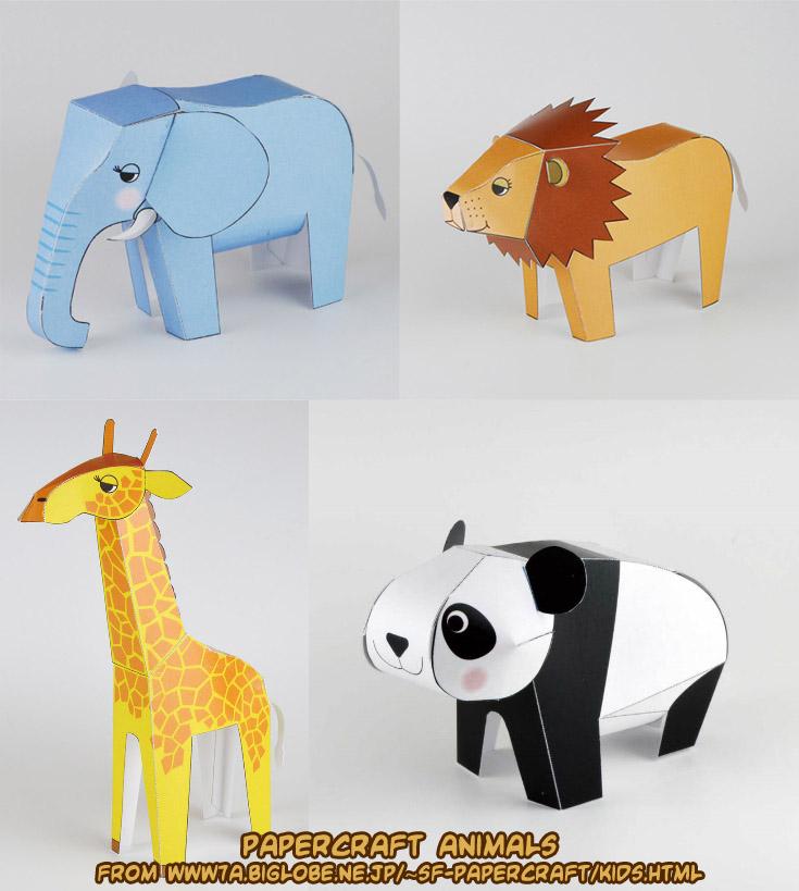 Ninjatoes 39 papercraft weblog cute papercraft animals for Cute paper crafts