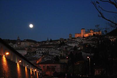 Spoleto: luna piena