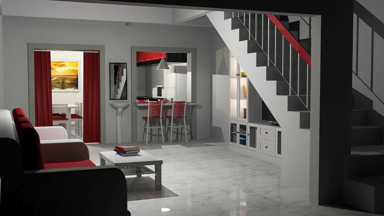 Ini Sekiranya Bilik Di Bahagian Dapur Tidak Disentuh A Tambah Kabinet Bawah Tangga Ruang Kelihatan Menarik Dan Cantik