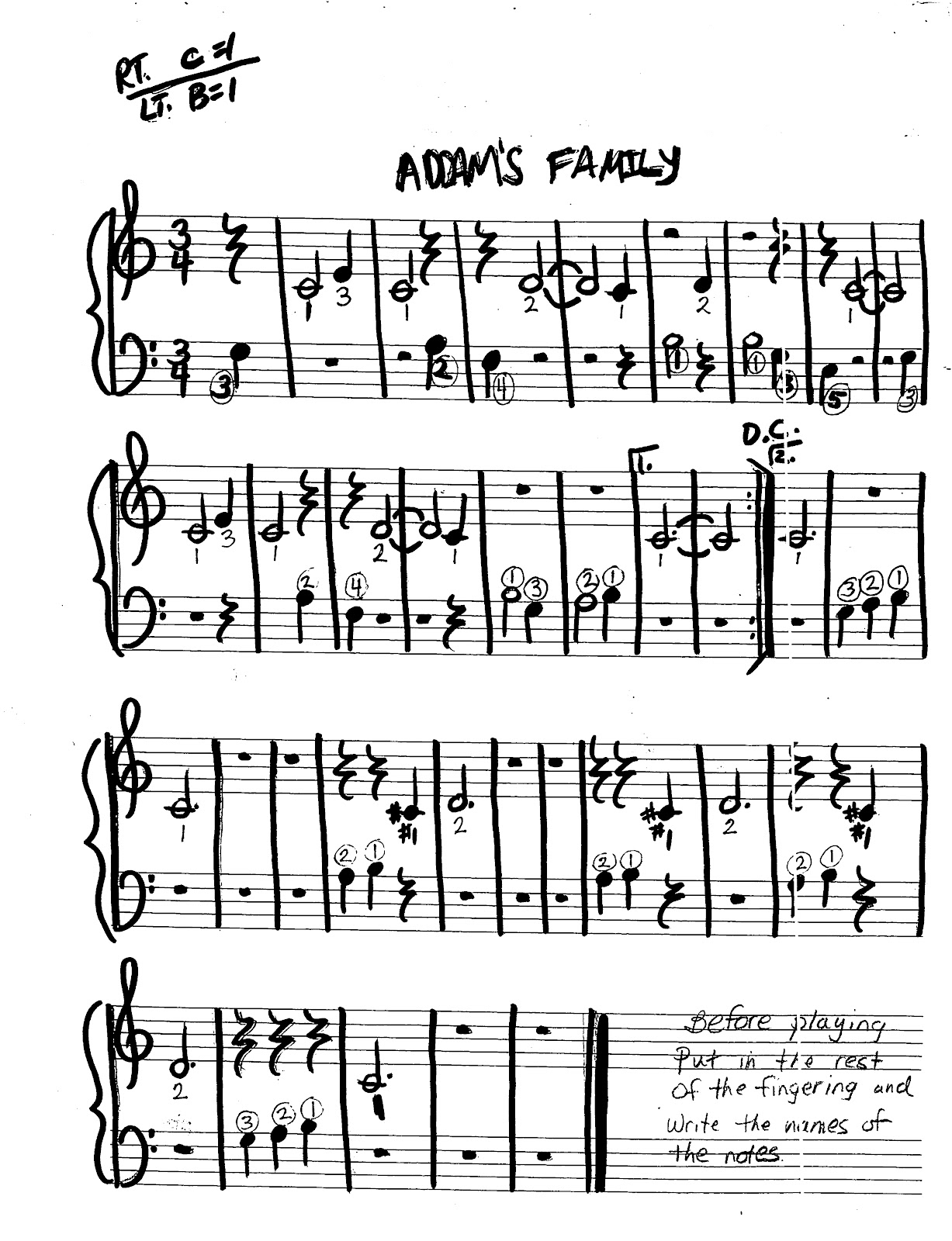 Miss Jacobson's Music: EASY KEYBOARD #2: MELODY SONGS BY FRAME and ...